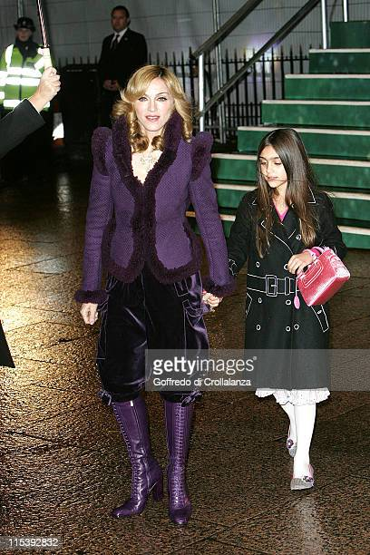 Madonna and daughter Lourdes Leon during Harry Potter and the Goblet of Fire World Premiere Arrivals at Odeon Leicester Square in London United...