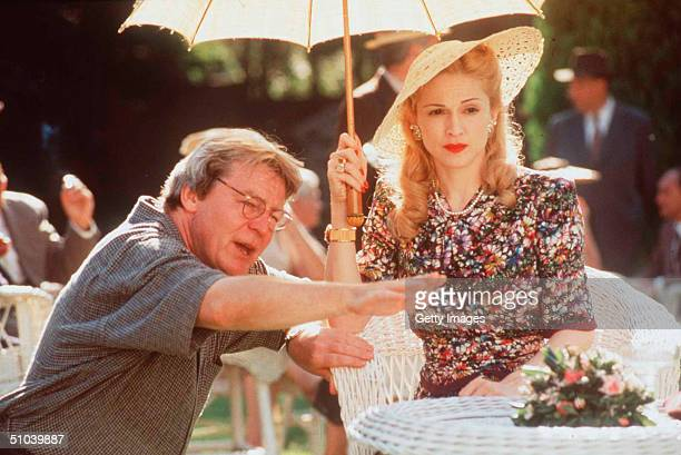 Madonna And Director Alan Parker In The Movie Evita January 17 1997