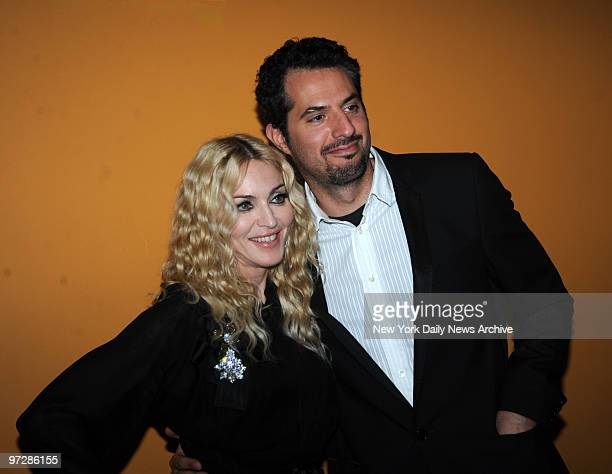 """Madonna and Guy Oseary at the Cinema Society Screening ..of Madonna's """" Filth And Wisdom """" held at the Landmark Sunshine Theater"""