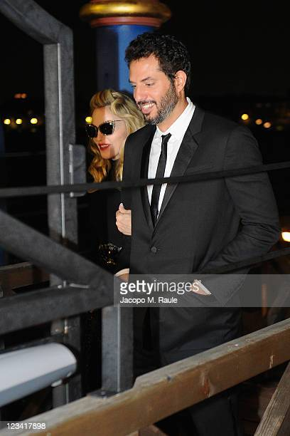 Madonna and Guy Oseary attend the 2011 GUCCI Award For Women In Cinema at Hotel Cipriani on September 2 2011 in Venice Italy