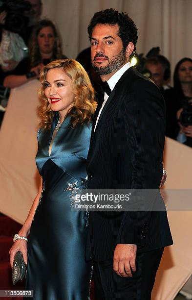 Madonna and Guy Oseary attend the Alexander McQueen Savage Beauty Costume Institute Gala at The Metropolitan Museum of Art on May 2 2011 in New York...