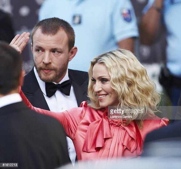 Madonna and Guy Ritchie arrive at amfAR's Cinema Against AIDS 2008 benefit held at Le Moulin de Mougins during the 61st International Cannes Film...