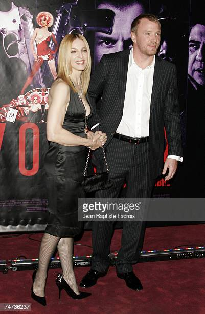 Madonna and Guy Ritchie at the Gaumont Marignant in Paris France
