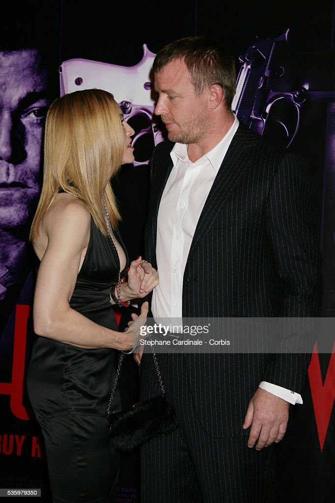 Madonna and Guy Ritchie attend the premiere of 'Revolver' in Paris.