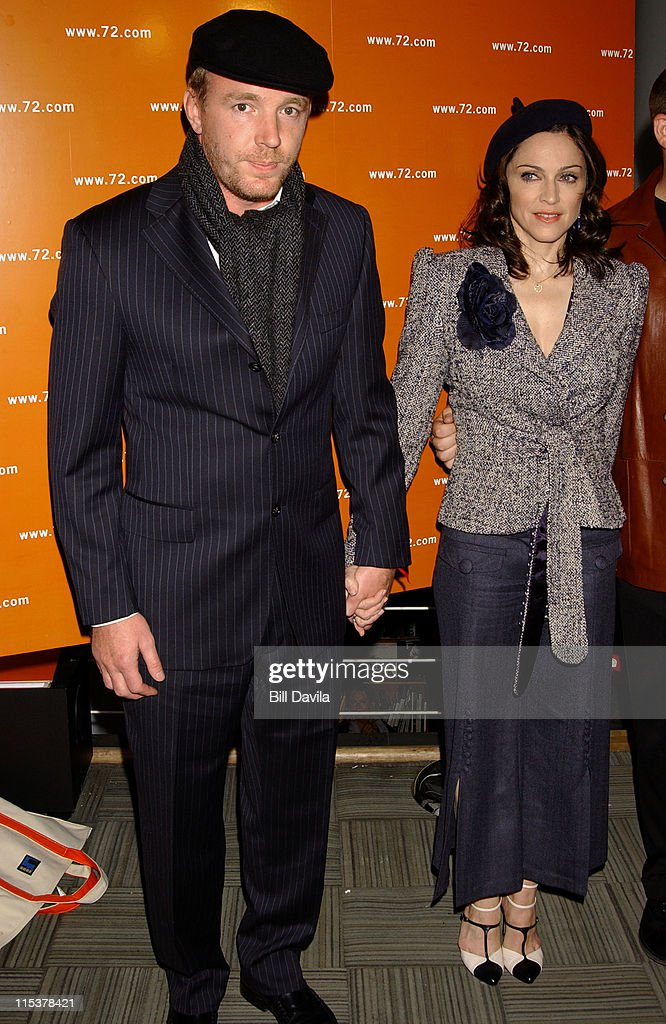 Madonna and Guy Ritchie during 'The 72 Names of God' by Kabbalist Rabbi Yehuda Berg at The New Museum of Contemporary Art in New York City, New York, United States.