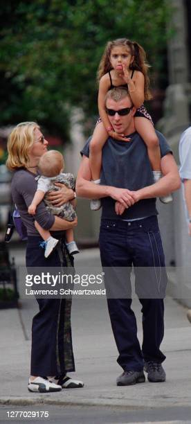 Madonna and Guy Ritchie, with their son, Rocco, and daughter with Carlos Leon, Lourdes, Leave a Riverside Park playground. Madonna was in town for a...
