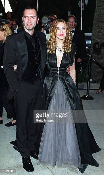 Madonna and her brother arrive at the Vanity Fair Oscar Party at Mortons March 23 1998 in West Hollywood California