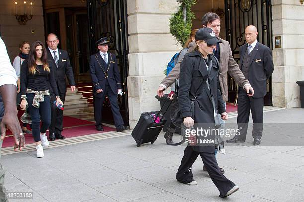 Madonna and her daughter Lourdes Ciccone are seen leaving the 'Ritz' hotel on July 12 2012 in Paris France