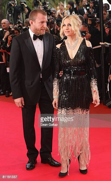 Madonna and her husband director Guy Ritchie arrive at the 'I Am Because We Are' Premiere at the Palais des Festivals during the 61st International...
