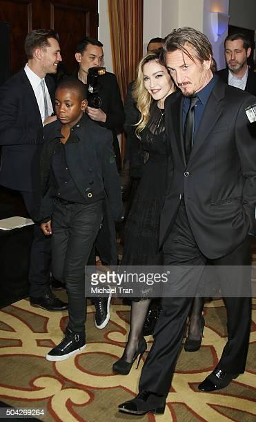 Madonna and host Sean Penn arrive at the 5th Annual Sean Penn Friends 'HELP HAITI HOME' gala benefiting J/P Haitian Relief Organization held at...