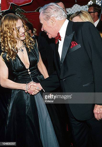 Madonna and Jack Lemmon during The 70th Annual Academy Awards Red Carpet at Shrine Auditorium in Los Angeles California United States