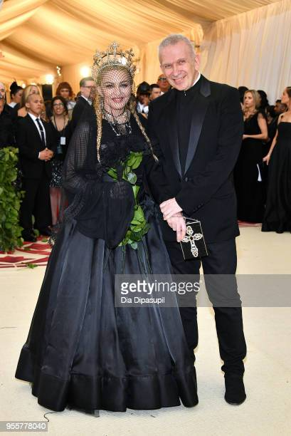 Madonna and Jean Paul Gaultier attend the Heavenly Bodies Fashion The Catholic Imagination Costume Institute Gala at The Metropolitan Museum of Art...