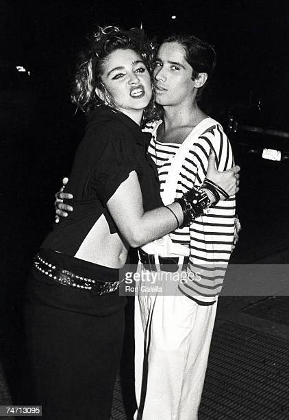 Madonna and Jellybean at the Madison Square Garden in New York City New York