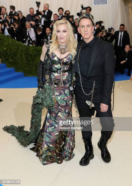 Madonna and Jeremy Scott attend the 'Rei Kawakubo/Comme des Garcons Art Of The InBetween' Costume Institute Gala at Metropolitan Museum of Art on May...