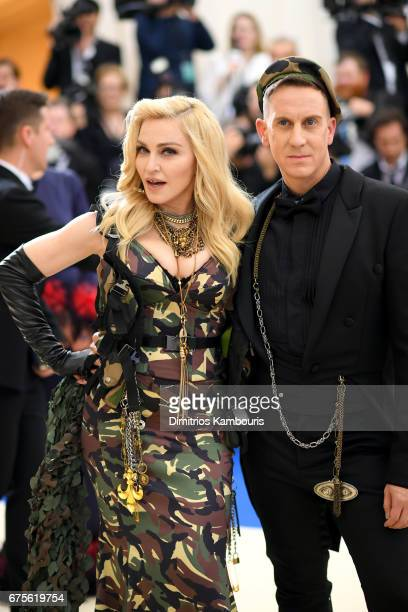 Madonna and Jeremy Scott attends the 'Rei Kawakubo/Comme des Garcons Art Of The InBetween' Costume Institute Gala at Metropolitan Museum of Art on...
