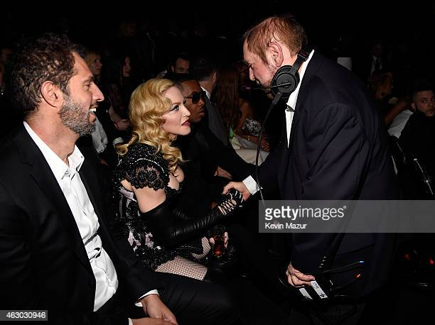 Madonna and Ken Ehrlich attend The 57th Annual GRAMMY Awards at STAPLES Center on February 8 2015 in Los Angeles California
