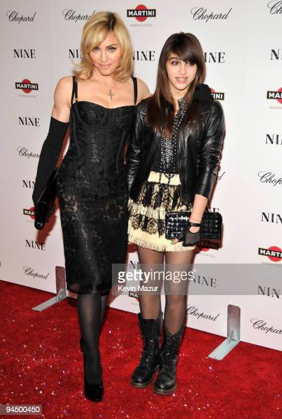 Madonna and Lourdes Leon attends the New York premiere of NINE sponsored by Chopard at the Ziegfeld Theatre on December 15 2009 in New York City