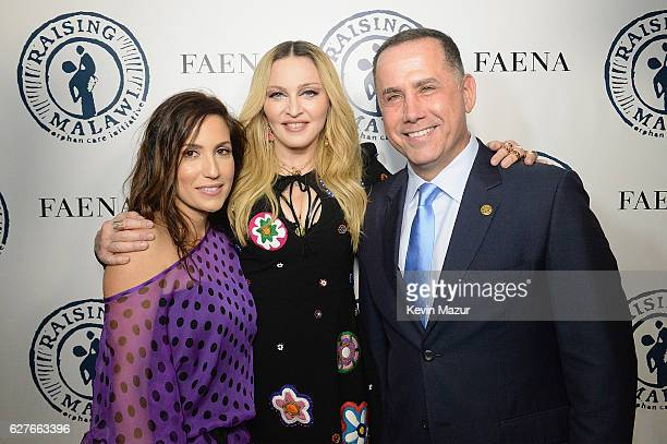 Madonna and Mayor of Miami Beach Philip Levine attend Madonna presents An Evening of Music Art Mischief and Performance to Benefit Raising Malawi at...