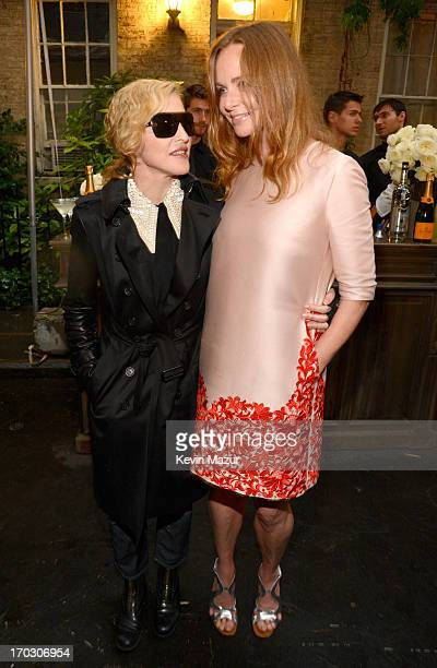 Madonna and Stella McCartney attend the Stella McCartney Spring 2014 Collection Presentation at West 10th Street on June 10 2013 in New York City