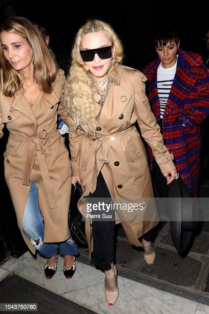 Madonna arrives at a Hotel on September 30 2018 in Paris France