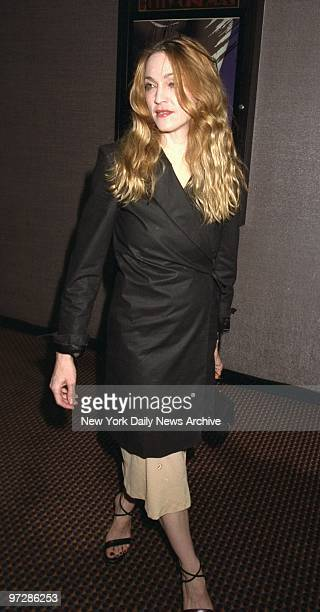 Madonna arrives at Cinema Two for screening of the movie Artemisia The screening was hosted by Madonna