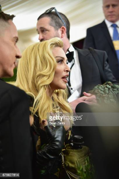 Madonna arrives at 'Rei Kawakubo/Comme des Garcons Art Of The InBetween' Costume Institute Gala at The Metropolitan Museum on May 1 2017 in New York...