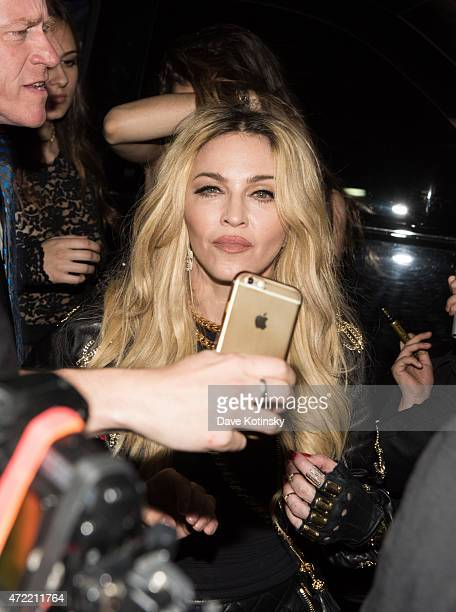 Madonna arrives at Rihanna's Private Met Gala After Party at Up & Down on May 4, 2015 in New York City.