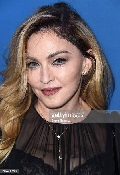 Madonna arrives at the 5th Annual Sean Penn Friends HELP HAITI HOME Gala Benefiting J/P Haitian Relief Organization at Montage Hotel on January 9...