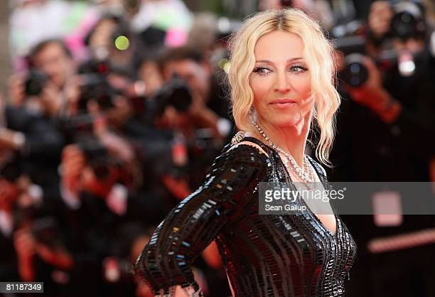 Madonna arrives at the 'I Am Because We Are' Premiere at the Palais des Festivals during the 61st International Cannes Film Festival on May 21 2008...