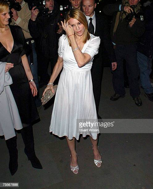 Madonna arrives at the Langham Hilton to launch a new collection for H M on March 13 2007 in London England