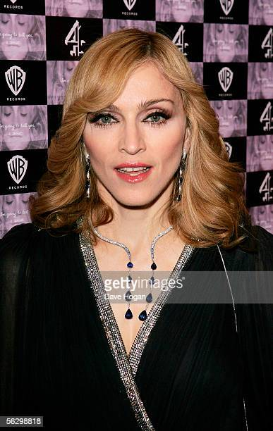 """Madonna arrives at the UK TV documentary premiere of her new confessional Channel 4 documentary """"I'm Going To Tell You A Secret"""" at the Chelsea..."""
