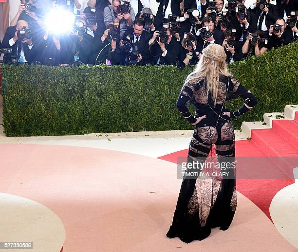 TOPSHOT Madonna arrives for the Costume Institute Benefit at The Metropolitan Museum of Art May 2 2016 in New York / AFP / TIMOTHY A CLARY