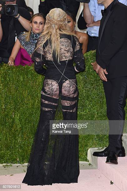 Madonna arrives for the 'Manus x Machina Fashion In An Age Of Technology' Costume Institute Gala at Metropolitan Museum of Art on May 2 2016 in New...