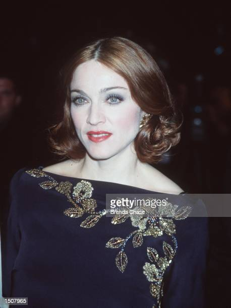 Madonna arrives for the Vanity Fair Oscar Party March 21 1999 at Morton's Restaurant in West Hollywood CA