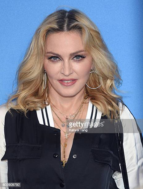 Madonna arrives for the World premiere of The Beatles Eight Days A Week The Touring Years at Odeon Leicester Square on September 15 2016 in London...