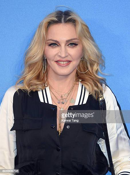 Madonna arrives for the World premiere of 'The Beatles Eight Days A Week The Touring Years' at Odeon Leicester Square on September 15 2016 in London...