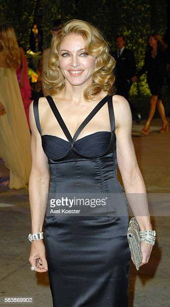 Madonna arrives to the Vanity Fair Oscar® party at Morton's Restaurant in West Hollywood