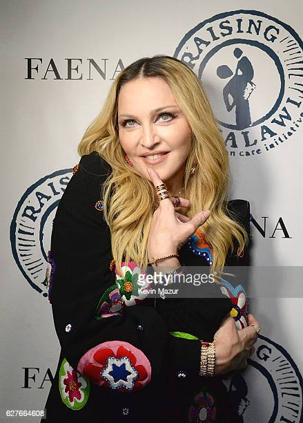 Madonna at her Evening of Music Art Mischief and Performance to Benefit Raising Malawi at Faena Forum on December 3 2016 in Miami Beach Florida