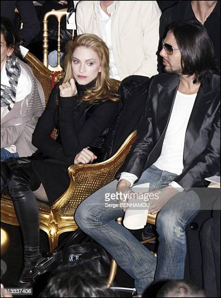 Madonna At Jean Paul Gaultier SpringSummer 2006 Haute Couture Fashion Show In Paris On January 25Th 2006 In Paris France Here Madonna And Joachim...