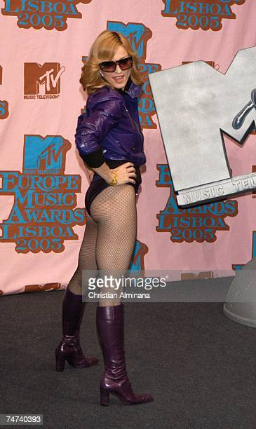 Madonna at the 2005 MTV European Music Awards Lisbon Press Room at Atlantic Pavillion in Lisbon