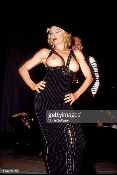 Madonna at the Jean Paul Gaultier runway show benefit for APLA in LA 1993