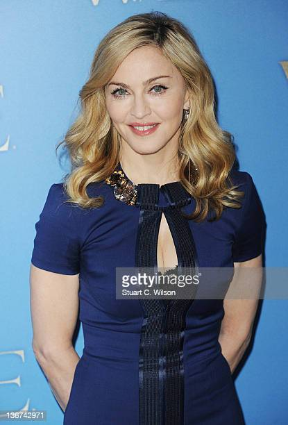 Madonna attends a photocall for WE at The London Studios on January 11 2012 in London England
