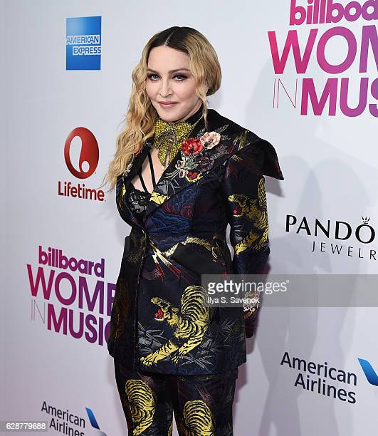 Madonna attends Billboard Women In Music 2016 Airing December 12th On Lifetime at Pier 36 on December 9 2016 in New York City