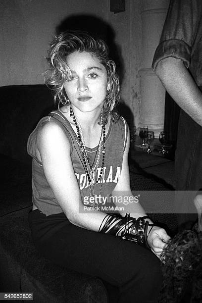 Madonna attends Dallas Party for Amadeus at Limelight Club on September 12 1984 in New York City