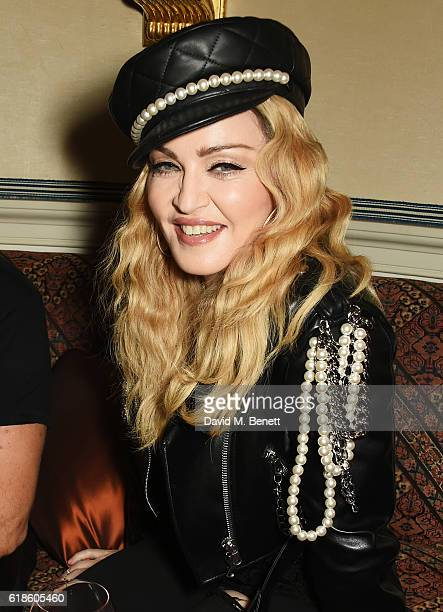 Madonna attends Edward Enninful's OBE dinner at Mark's Club on October 27 2016 in London England