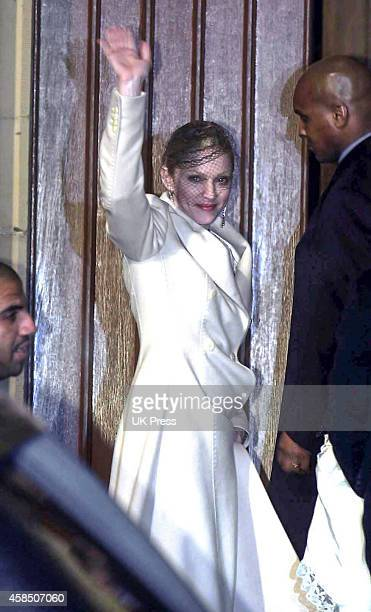 Madonna attends her son Rocco's Christening Ceremony at Dornoch Cathedral in Scotland on December 21 2000 in Dornoch Scotland