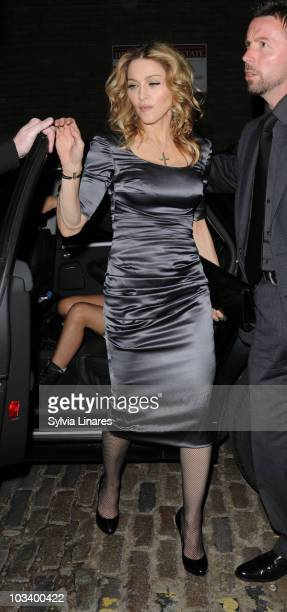 Madonna attends Madonna's 52nd birthday party held at Shoreditch House on August 14 2010 in London England