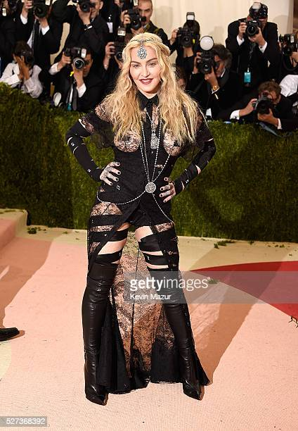 """Madonna attends """"Manus x Machina: Fashion In An Age Of Technology"""" Costume Institute Gala at Metropolitan Museum of Art on May 2, 2016 in New York..."""