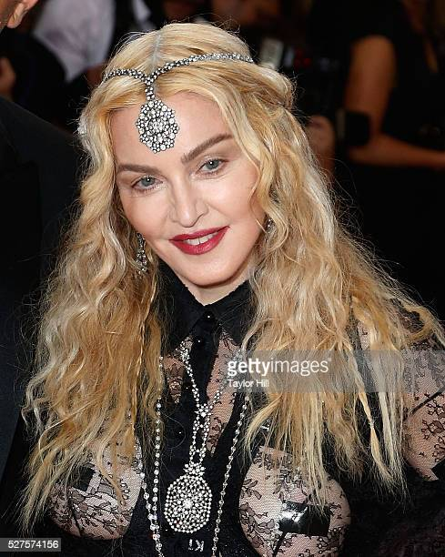 Madonna attends Manus x Machina Fashion in an Age of Technology the 2016 Costume Institute Gala at the Metropolitan Museum of Art on May 02 2016 in...