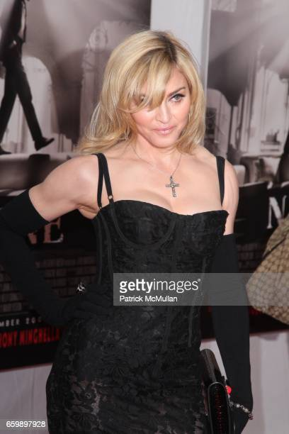 Madonna attends New York Premiere of NINE at Ziegfeld Theatre on December 15 2009 in New York City